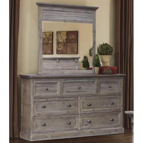 Product Image - Bedroom Shutter Mirror - Solstice Gray