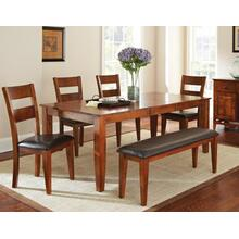 Mango 6 Piece Set(Table, Bench & 4 Side Chairs)