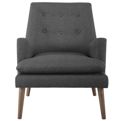 Leisure Upholstered Lounge Chair in Gray