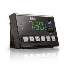 Voice activated clock radio