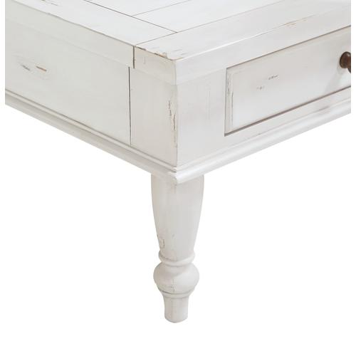 Emerald Home Abaco Coffee Table, Country White T848-00