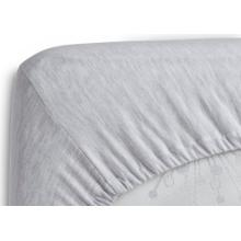 Fitted Crib Sheet Set - 2 Pack  Solid Color  100% Jersey Cotton - Heather Grey (053)