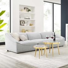 Comprise 3-Piece Sofa in Light Gray