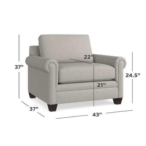 Carolina Panel Arm Chair and a Half