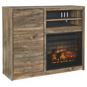 Rusthaven Media Chest With Electric Fireplace Product Image