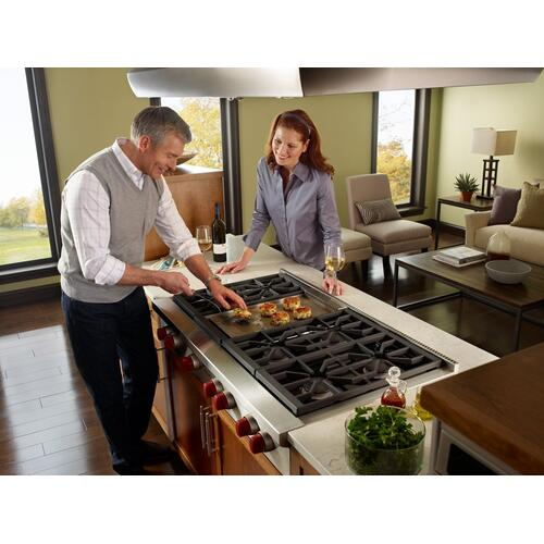 """48"""" Sealed Burner Rangetop - 6 Burners and Infrared Griddle (OPEN BOX CLOSEOUT)"""