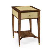 Ivory Faux Shagreen Rectangular Side Table