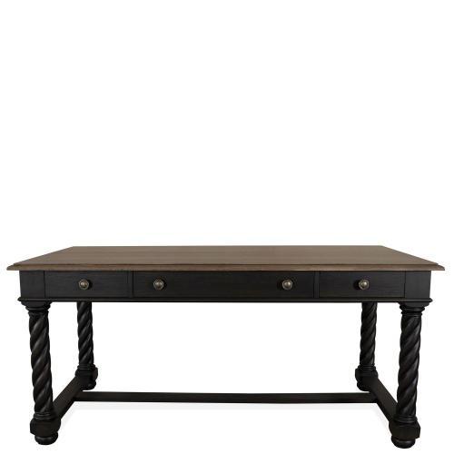 Regency - Writing Desk - Antique Oak/matte Black Finish