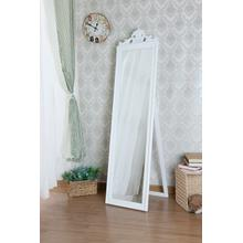 7056 WHITE Full Length Standing Crown Mirror