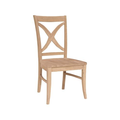 Unfinished X Back Vineyard Chair