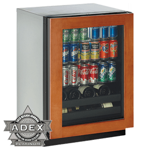 """Overlay Left Hand 3000 Series / 24"""" Beverage Center / Digitally Controlled Single-Zone Convection Cooling System"""