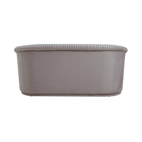 Yara Pleated Grey Velvet Loveseat by Inspire Me! Home Decor