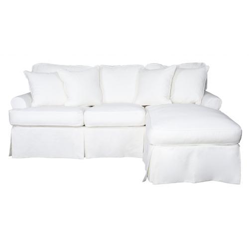Horizon Slipcovered Sleeper Sofa and Chaise - Color: 391081