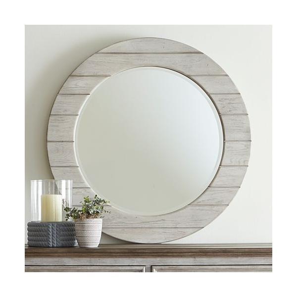 Round Mirror - White