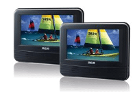 "7"" Dual Screen Mobile DVD System"