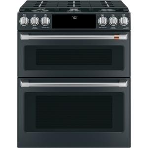 "Cafe30"" Smart Slide-In, Front-Control, Gas Double-Oven Range with Convection"