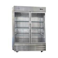 See Details - 2 Glass Door Stainless Steel Reach-In Refrigerator