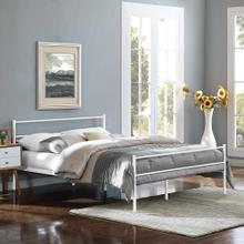 Alina Queen Platform Bed Frame in White