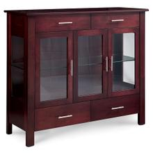 See Details - East Village Dining Cabinet, 3-Door / Glass Doors and Ends