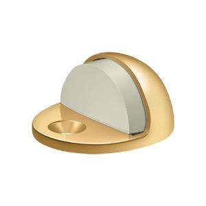 Dome Stop Low Profile, Solid Brass - PVD Polished Brass