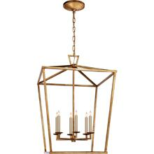 Visual Comfort CHC2176GI E. F. Chapman Darlana 6 Light 24 inch Gilded Iron Foyer Lantern Ceiling Light, E.F. Chapman, Large