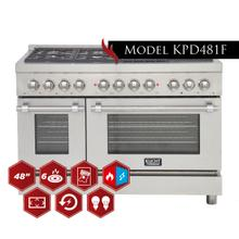 """See Details - 48"""" Freestanding Dual-Fuel Range for Extra Large Kitchens!"""