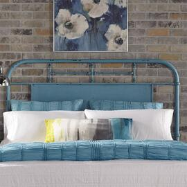 King Metal Headboard - Blue