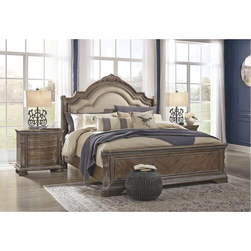 Charmond California King Upholstered Sleigh Bed