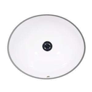 """White VANITY Undermount Lavatory, 19"""" Product Image"""