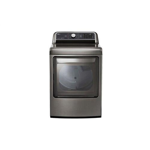 7.3 cu. ft. Ultra Large Capacity Smart wi-fi Enabled Top Load Gas Dryer with Sensor Dry Technology