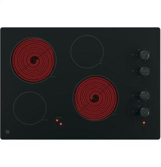 "GE 30"" Electric Smoothtop Cooktop Black JP3030DJBB"
