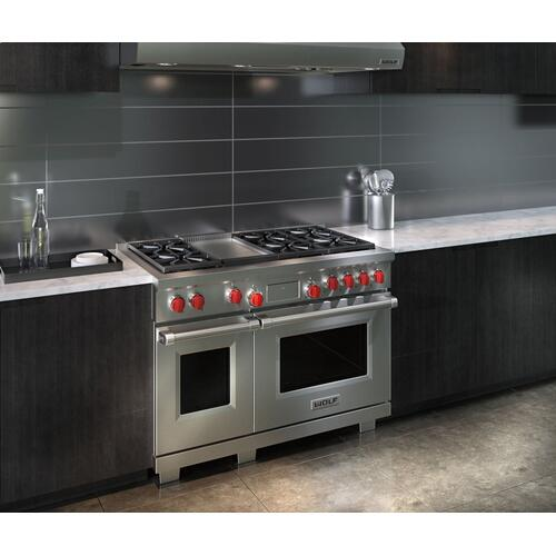 "48"" Dual Fuel Range - 6 Burners and Infrared Griddle"