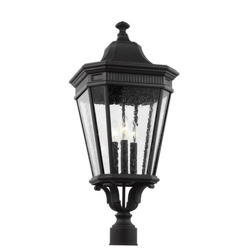 Cotswold Lane Large Post Lantern Black