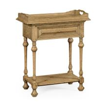 Natural oak Elizabethan style tray table on stand