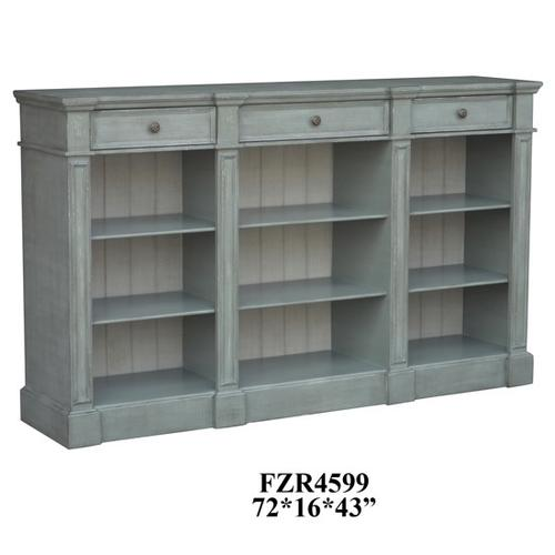 Product Image - Bedford 3 Drawer Mint Green and White Bookshelf Console