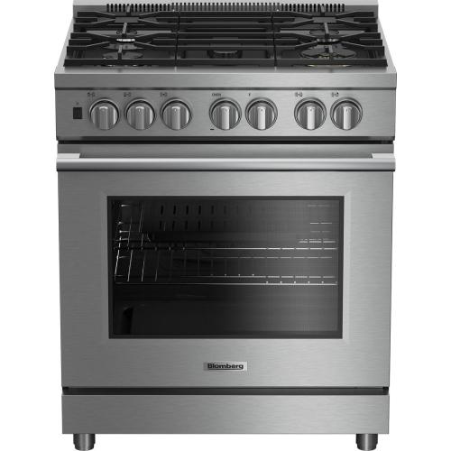 """Red Hot Buy- Be Happy! 30"""" Pro gas stainless range with 5.7 cu ft self clean oven, 5 burner, track light"""