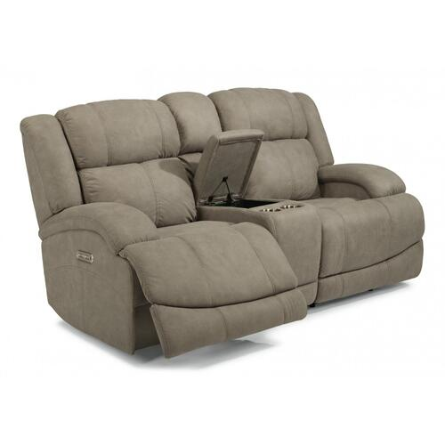 Declan Power Reclining Loveseat with Console & Power Headrests