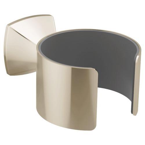Voss polished nickel hair dryer holder