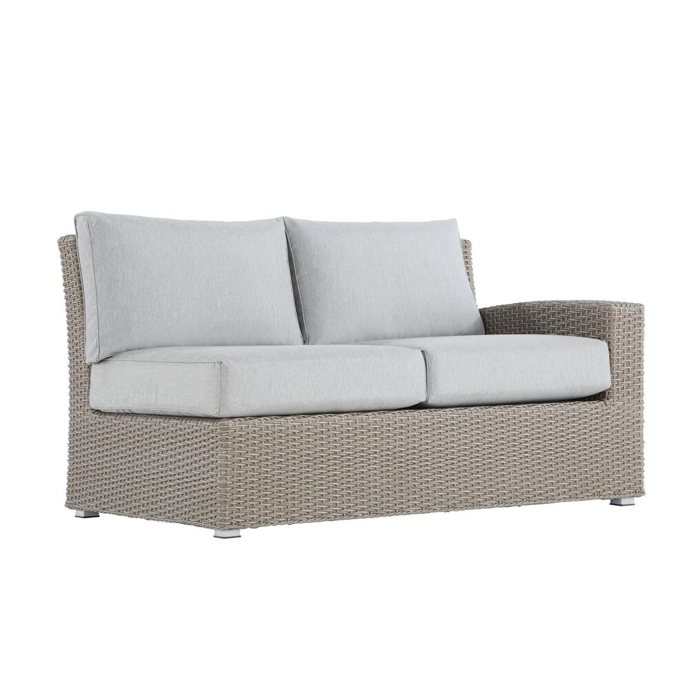 Reims Outdoor Lsf/rsf Loveseats, Brick Gray Ou1207-11-12-09