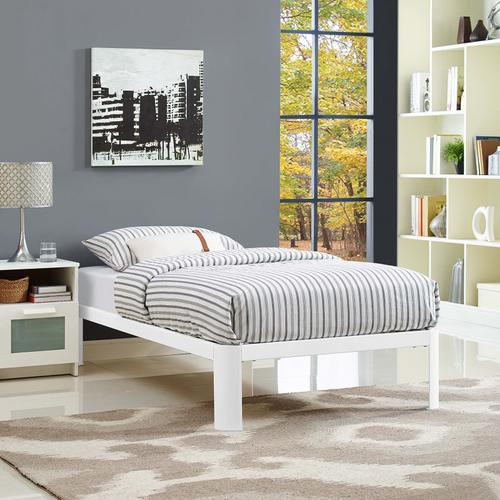 Modway - Corinne Twin Bed Frame in White