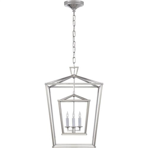 Visual Comfort CHC2178PN E. F. Chapman Darlana 3 Light 17 inch Polished Nickel Foyer Lantern Ceiling Light