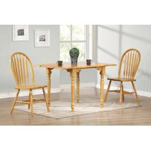 DLU-TLD3448-820-LO3PC  3 Piece Drop Leaf Dining Set  Arrowback Chairs
