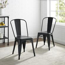 AMELIA 2PC METAL CHAIR SET