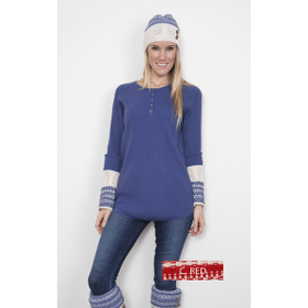 WB Nordic Henley Tunic XS Red (2 pc. ppk.)