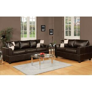 Gallery - 2-Pcs Sofa Set Bonded leather Match/Espresso