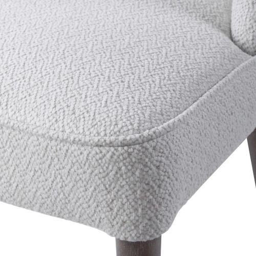 Brie Armless Chair, White, 2 Per Box
