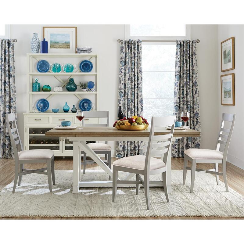 Osborne - Upholstered Ladderback Side Chair - Gray Skies Finish