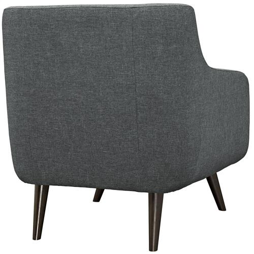 Modway - Verve Upholstered Fabric Armchair in Gray