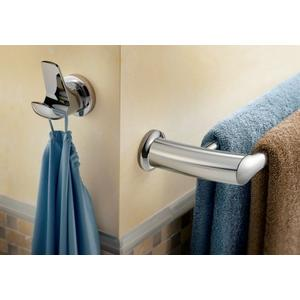 "Method chrome 18"" double towel bar"