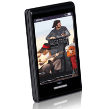 8GB MP3 and video player with 2.8-inch touchscreen display